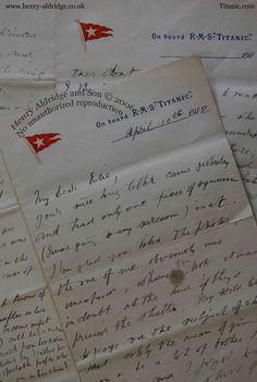 8 page onboard letter by edward colley