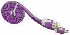 "myLife Light Grape Purple {Dependable Flat Noodle Design} 6' Feet (1.8 Meter) Quick Charge USB 2.0 Micro USB to USB Data Sync Cord for Phones, Cameras, Tablets and GPS Devices ""SEE COMPATIBILITY"" (Durable Rubber Coat) myLife Brand Products http://www.amazon.com/dp/B00NX1YFL8/ref=cm_sw_r_pi_dp_sQ9tub1A7CVKZ"