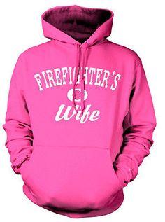FIREFIGHTER'S WIFE SWEATSHIRT HOODY.  PINK OR BLUE Firefighter's Wife Sweatshirt #Gildan #HoodedSweatshirt