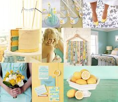 aqua and yellow... yes please.  in weddings and in life.