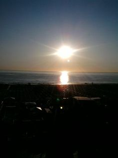 the sunrise from Alisei Palace Hotel's balcony in Rimini  www.aliseipalacehotel.it