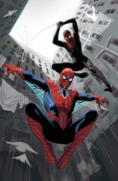 Spider-Men II #1 variant cover by Daniel Acuna *
