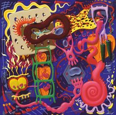 Orbital – In Sides (1996)  Chaotic and colorful cover art decorated the cover of this Orbital cd.