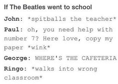 Jokes and Memes Only A Beatles Fan Would Get Book 2 - School - Wattpad Beatles Band, The Beatles, Beatles Funny, Beatles Quotes, Funny Memes, Jokes, Music Memes, The Fab Four, Yellow Submarine