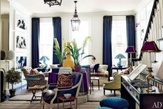 Another view of one of my favorite rooms. Jeffrey Bilhuber in NYC. Architectural Digest.
