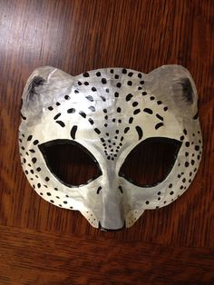 Leopard mask or snow leopard mask by HighMoonCreations on Etsy