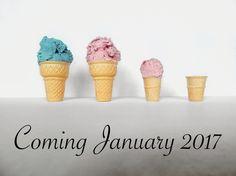 Pregnancy announcement with ice cream I did myself! @cassieinwonderland