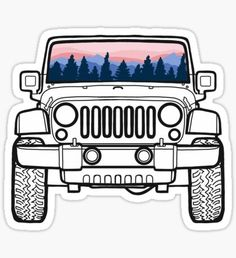 Jeep stickers featuring millions of original designs created by independent artists. Decorate your laptops, water bottles, notebooks and windows. 4 sizes available. Stickers Cool, Jeep Stickers, Cute Laptop Stickers, Red Bubble Stickers, Snapchat Stickers, Tumblr Stickers, Printable Stickers, Jeep Decals, Jeep Drawing