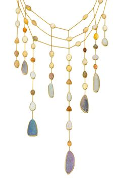 Pippa Small. 18kt Gold, Giant Opal Waterfall Necklace.