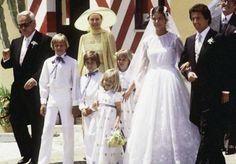 Princess Caroline of Monaco and the Grimaldi French banker Philippe Junot, June 28-29, 1978.