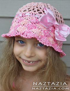 Free Pattern from The Crochet Lounge - Crochet Pineapple Lace Sunhat - Crocheted by Naztazia