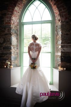 Beautiful bride and dress photographed at Orange Tree House, Greyabbey, county Down Northern Ireland