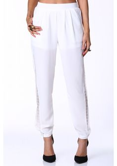 Gorgeous Georgey Pants in White | Necessary Clothing