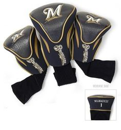 Milwaukee Brewers Contour Gollf Club HeadCover - 3 Pack