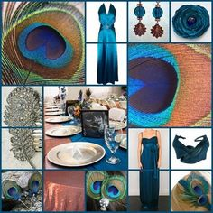 Peacock Wedding Theme with Copper and Teal Blue