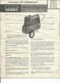 Rebuilding an emglo air compressor pump aircompressorservice parts list montgomery ward xer compressor i found the parts list for my air compressor it also covers other models see top right corner of page 1 for fandeluxe Images