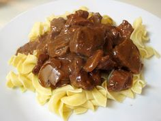 Beef Tips and Egg Noodles
