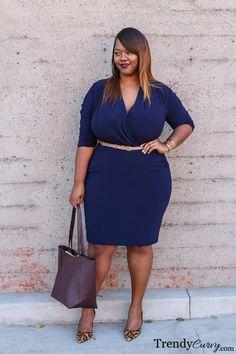 Kristine of TrendyCurvy.com Single Faux Wrap... | Trendy Curvy | Plus Size Fashion & Style Blog