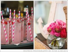Signature Drinks!! Raspberry Infused Vodka and lemonade - Beautiful Chesapeake Bay Beach Club Wedding - Inspired Photography