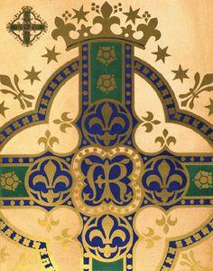 Illustration: A W N Pugin http://glipho.com/thetextileblog/a-celebration-of-pugin-s-200th-anniversary