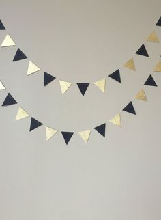 50. Geburtstag Dekoration, schwarz und Gold Glitter Dreieck Garland, Hochzeit, Geburtstag, Schulabschluss, Papier-Girlande, schwarz und Gold-Dekor