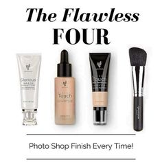#Younique #Primer #Foundation #Concealer #BlusherBrush #Makeup #Beauty #Natural #TheFlawlessFour