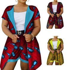 Dashiki Cotton Wax Print African Clothing Top-Shorts Set For Women Latest African Fashion Dresses, African Print Fashion, Africa Fashion, Tribal Fashion, African Prints, African Attire, African Wear, African Dress, African Clothes