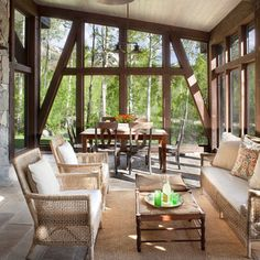 Rotermund Residence featuring a contemporary mountain sun-room, linking the space into the beautiful Aspen grove.  #vertical-arts.com