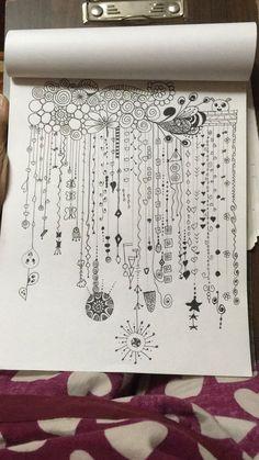 Doodle Patterns 522487994270208950 - Doodle Art Ideas Zen Tangles 25 Ideas Source by loudieres Doodles Zentangles, Ink Doodles, Zentangle Drawings, Art Drawings Sketches, Easy Drawings, Zentangle Art Ideas, Easy Zentangle Patterns, Zendoodle, Doodling Art