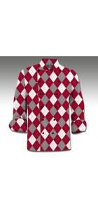 Red & Gray & White Chef Coat www.loudmouthgolf.com Made to Order Chef Coats! Mens Golf, Chef Coats, Chef Jackets, Men Sweater, Men's Apparel, Gray, Sweaters, Stuff To Buy, Ideas