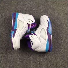 33c508882fbc15 Air Jordan 5 Retro Mens Basketball shoes White purple blue3 Jordan 4