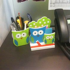 Focus: Desk Flair- Hoo hoo hoo's desk flair is this? Project Manager Randi Fields'. That's right. #awfulpuns