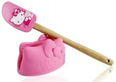 Hello Kitty Mini Mitt and Spatula from SiliconeZone is the latest in a long line of quality silicone kitchen tools. The partnership with Hello Kitty give fans of the pink icon a way to take their favorite kitty into the kitchen. Hello Kitty Kitchen, Hello Kitty House, Hello Kitty Cake, Hello Kitty Items, Hello Kitty Collection, Coffee Break, Gadgets, Kitchen Stuff, Kitchen Tools