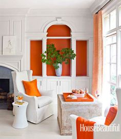 Orange Color in built ins