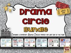 Drama Circle Bundle - 6 of my most popular drama circles bundled up in one resource.  Perfect for drama activities, practicing listening skills, collaborative learning activities, relief after testing ...
