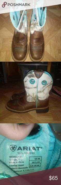 Boots Teal and Brown Ariat Shoes Heeled Boots