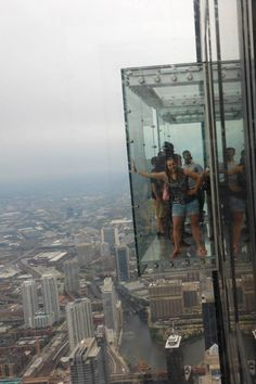 the Skydeck at the Willis tower (formerly Sears Tower) in Chicago