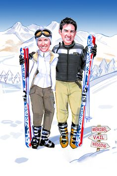 If skiing is your thing feature it on your wedding stationery