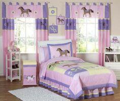 New Horse Cowgirl Kid Full Queen Size Bed Bedding Comforter Set for Girl Bedroom   eBay