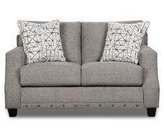 Alexandria Gray Loveseat Living Room Sectional, Living Room Furniture, Living Rooms, Grey Sectional, Apartment Living, Living Area, Grey Loveseat, Broyhill Furniture, Furniture Styles