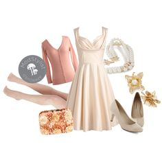"""""""Aisle Be There Dress in Lily"""" by modcloth on Polyvore"""