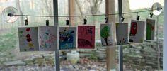 good idea for displaying kids artwork