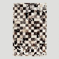 One of my favorite discoveries at WorldMarket.com: 5'x8' Hide Patchwork Rug