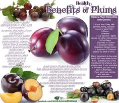 Health benefits of plums.