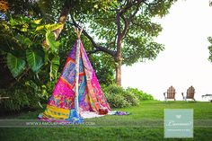 Boho teepee created by Debbie Hemingway- Designs by Hemingway - Honolulu, Hawaii. site:www.bayerestate.com. photography: lmprophoto.com