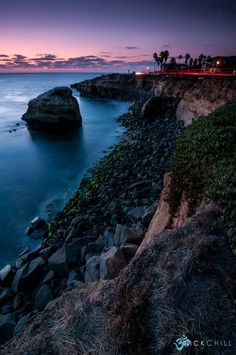 Evening light on Sunset Cliffs in San Diego, California