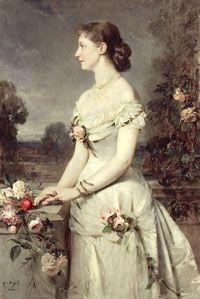 """Princess Auguste Victoria Friederike Luise Feodora Jenny """"Dona"""" (1858-1921) of Schleswig-Holstein by Heinrich von Angeli 1880."""