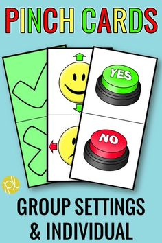 Pinch Cards - These response cards are easy to add to your whole or small groups! Several formats of colorful and black and white visuals are included - ideal for supporting individual students, too! Add these visuals to increase student participation and hands-on learning! #pinchcards #specialeducation