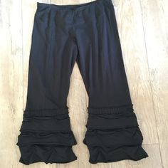 Black Capri's ( Boho Style)...- Bought at a boutique and they are an x-large but run small in size. Never worn. A fun piece to add to any wardrobe. Adorable with simply a white camisole!! Ecogirl Pants Capris
