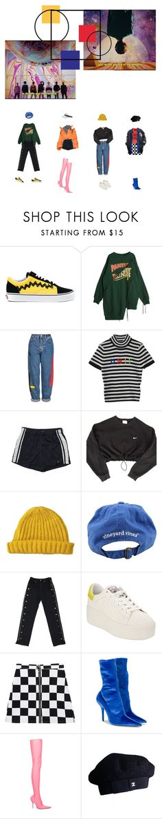 """""""l v y r s l f"""" by floralian ❤ liked on Polyvore featuring Vans, Topshop, Lenny, NIKE, Lowie, Vineyard Vines, Ash, VFiles, Balenciaga and Chanel Vineyard Vines, Balenciaga, Topshop, Chanel, Nike, Polyvore, Shopping, Image, Fashion"""